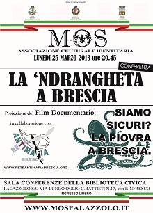 Locandina evento 25 Marzo