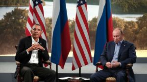 Barrack Obama e Vladimir Putin all'ultimo G8