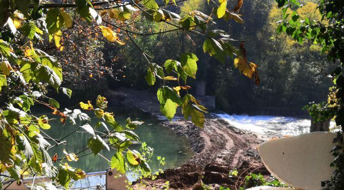 Lavori per impianto idroelettrico sul fiume Oglio